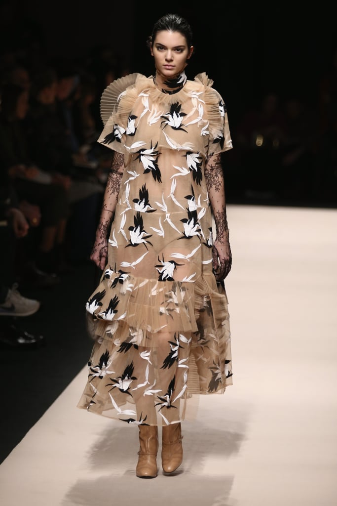 Kendall Looked Carefree in a Breezy Printed Dress at No ...