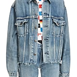 Balenciaga Cut Waistband Denim Jacket