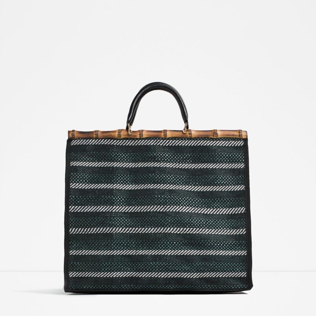 721117025a Zara Striped Tote ( 50)