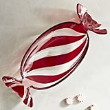 Striped Peppermint Glass Candy Dish ($15)