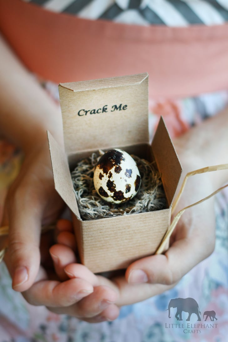 crackable eggs with a boy or girl surprise inside