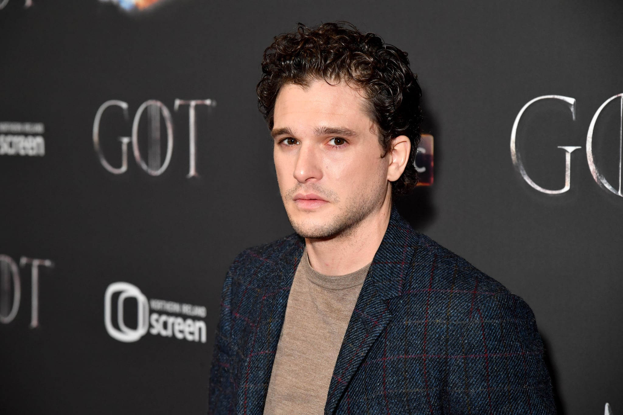 BELFAST, NORTHERN IRELAND - APRIL 12: Kit Harrington arrives at the Game of Thrones Season Finale Premiere at the Waterfront Hall on April 12, 2019 in Belfast, UK (Photo by Jeff Kravitz/FilmMagic for HBO)