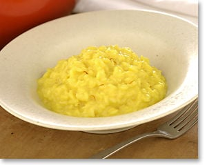 Sunday Dinner: Risotto with Parmesan and Saffron