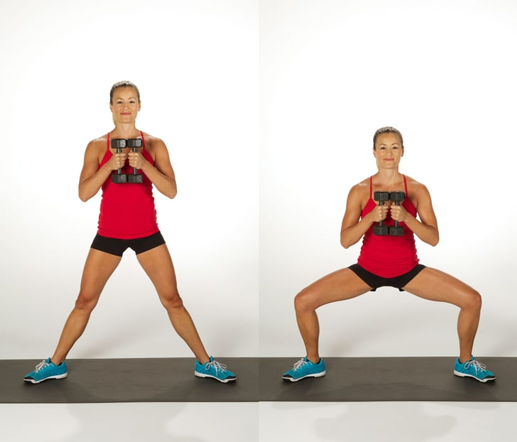 Dumbbell Sumo Squat Best Squat Variations Popsugar