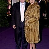 Melania's lavish furry coat stood out at the Asprey flagship store opening in 2003.