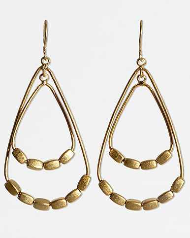 Kenneth Cole New York Goldtone Beaded Double-Drop Earrings ($26)