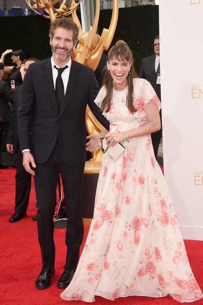 Amanda peet and david benioff couples at the emmy awards 2014 amanda peet and david benioff sciox Gallery