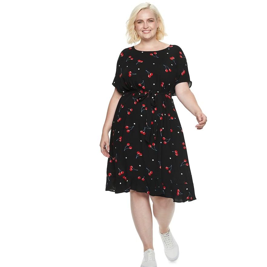 Popsugar At Kohl S Collection Print Tie Waist Dress Best Day To