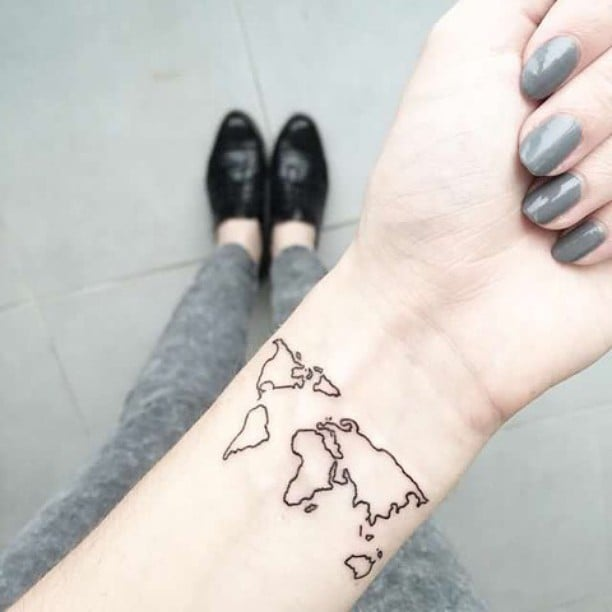 Map tattoos popsugar australia smart living gumiabroncs Gallery