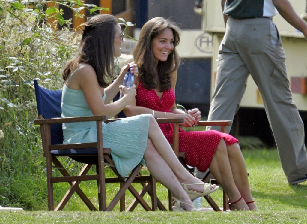 Kate and Pippa Middleton teamed up for an afternoon out during the Chakravarty Cup Charity Polo Match in June 2006.