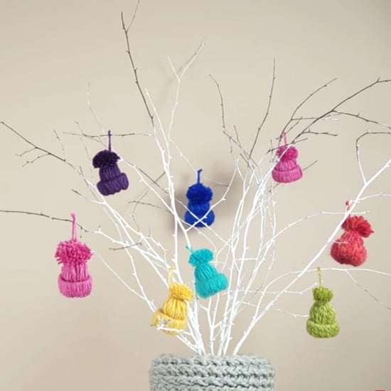 Yarn Hat Ornament DIY