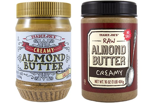 Almond Butter Raw Creamy and Salted Creamy ($6)