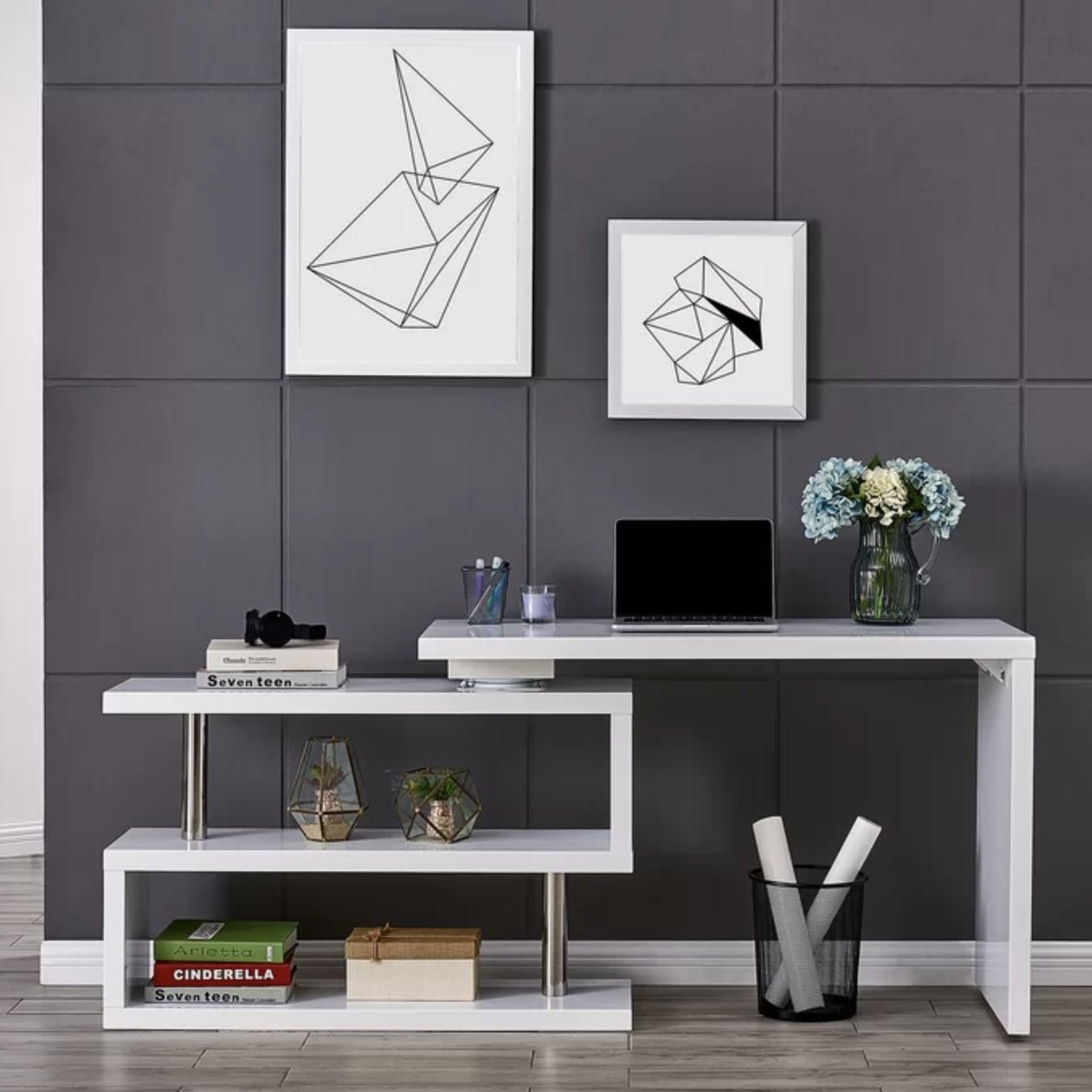 Best Bookshelf That Turns Into A Desk Popsugar Home