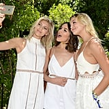 Devon Windsor, Olivia Culpo, and Rachel Hilbert