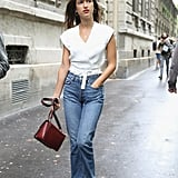 Jeanne Damas: High-Waisted Cropped Jeans