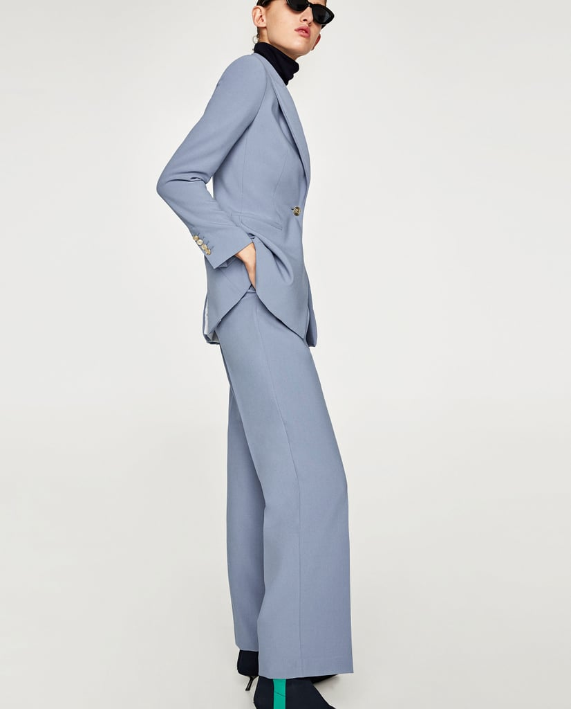 Zara Crepe Coat and Trousers