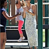 Halle Berry clapped for Nahla Aubry.