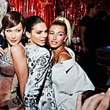 Bella Hadid, Kendall Jenner, and Hailey Baldwin