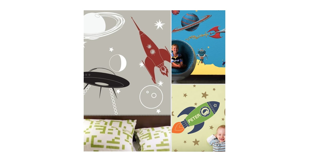 Space Themed Wall Decals Popsugar Moms