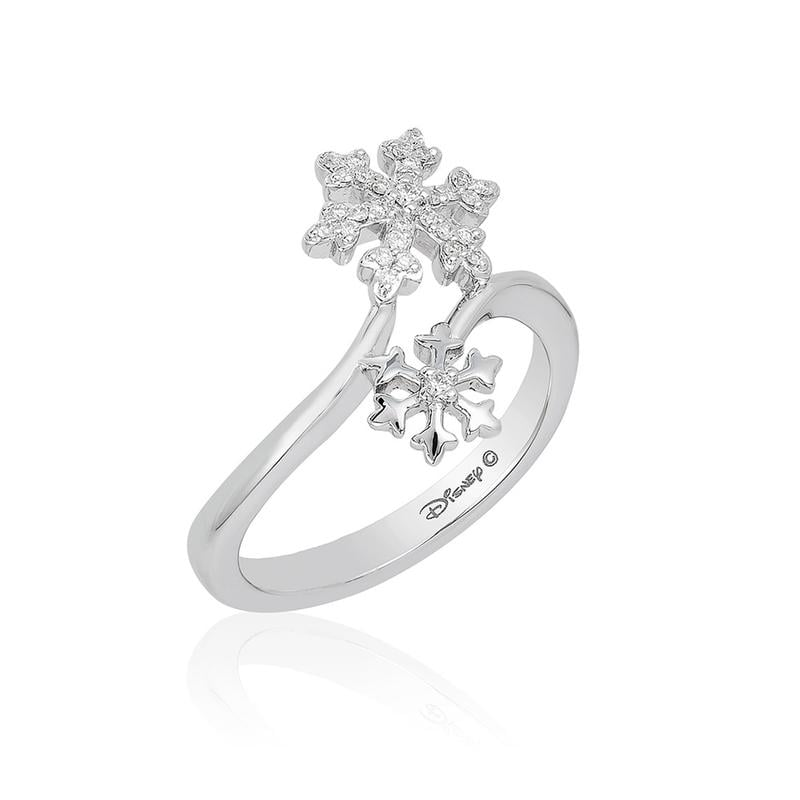 Sterling silver Elsa Snowflake Bypass Ring ($199)