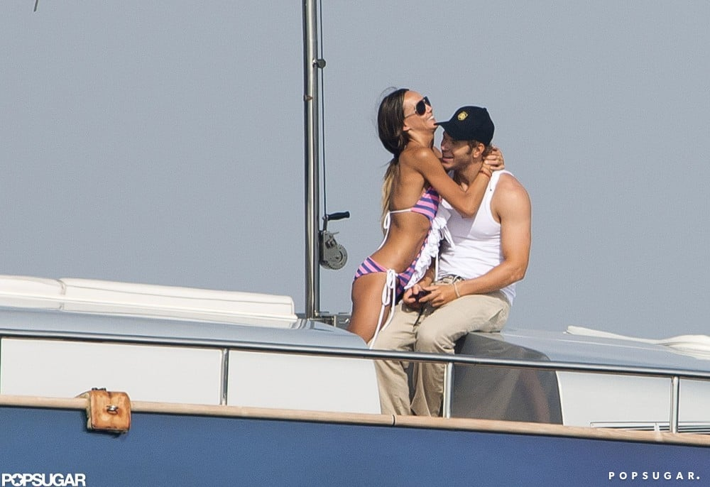 Kellan Lutz and girlfriend Sharni Vinson vacationed in Saint-Tropez in July 2012.