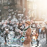 Blow bubbles.