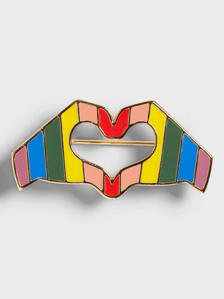 Banana Republic Pride Heart Brooch