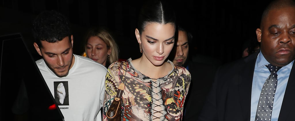 Kendall Jenner's Butterfly Outfit After the Burberry Show