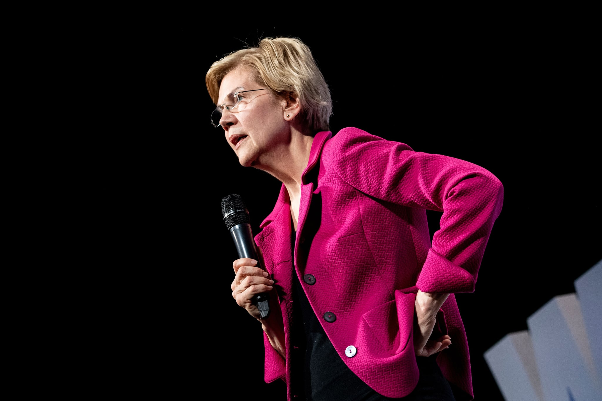 Senator Elizabeth Warren (D-MA), a 2020 US Presidential hopeful, speaks during the
