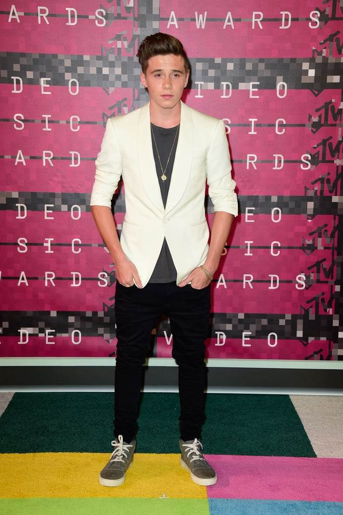 Brooklyn Beckham Brings a Heavy Dose of Swag to the VMAs