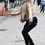 Ciara Filming Music Video in NYC November 2016