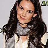 Katie Holmes bundled up in a scarf.