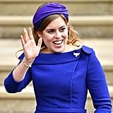 Princess Beatrice at Princess Eugenie's Wedding in 2018