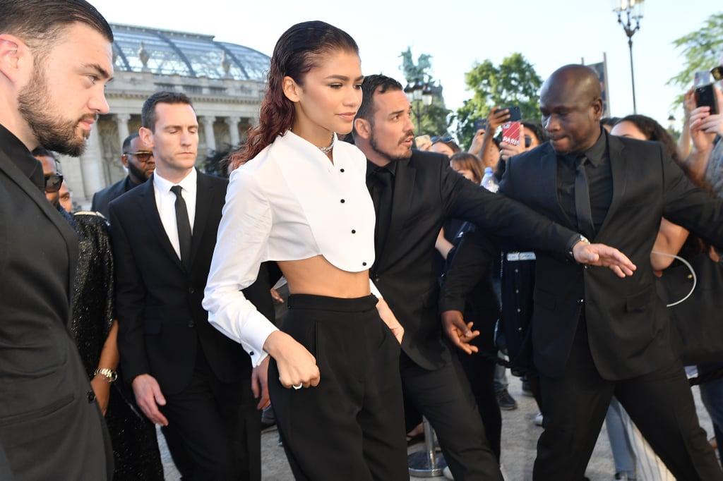Zendaya's Armani Suit at Paris Couture Fashion Week 2019