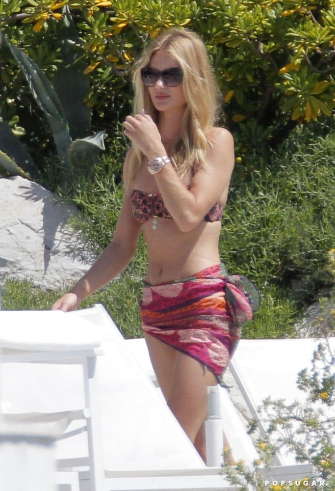 Rosie Huntington-Whiteley sunned in the South of France.