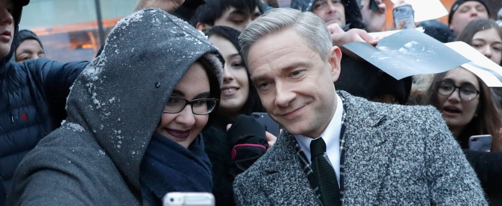 These Stars Didn't Let a Little Snow Stop Them From Mingling With Fans at the Empire Awards