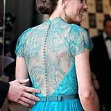 Kate Middleton Steps Out in a Lacy Jenny Packham Gown on a Special Night With William