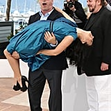 Alec and Hilaria Baldwin hammed it up for the cameras at the Seduced and Abandoned photocall in Cannes on May 21.