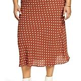Halogen Bias Cut Midi Skirt