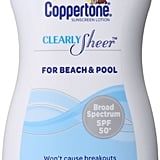Coppertone Clearly Sheer Sunscreen Lotion Face SPF 30 ($10)