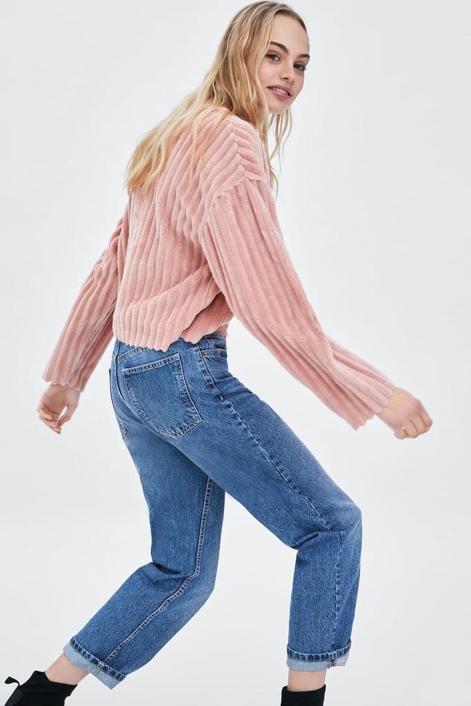 fe1e35afef89 Zara Faux Fur Sweatshirt