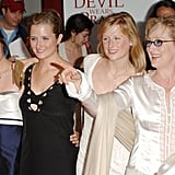 All three of Meryl's daughters joined her in celebrating the premiere of The Devil Wears Prada in 2006.