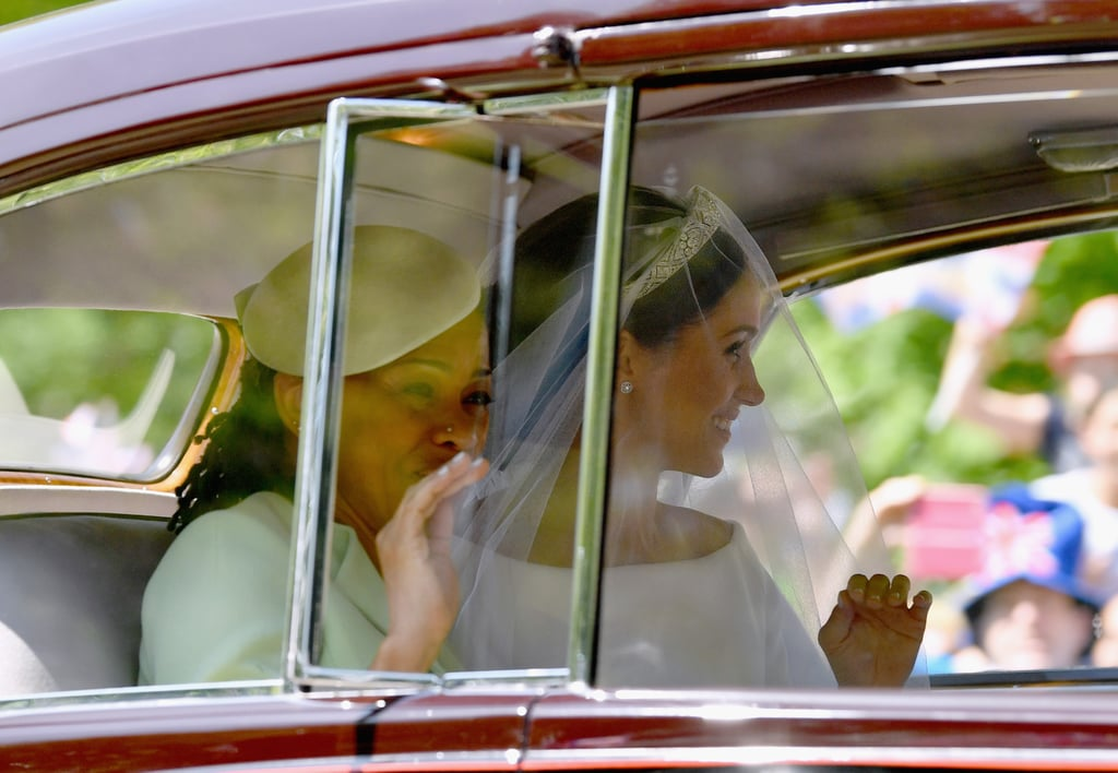 Meghan Markle's dad, Thomas, may not have been able to make the trek across the pond to watch his daughter wed Prince Harry on Saturday, but her mom, Doria Ragland, was front and center. The two arrived together to St. George's Chapel at Windsor Castle in a vintage Rolls Royce, and Doria looked beautiful in a gorgeous green ensemble. Unfortunately, Meghan's father couldn't make it to the wedding, as he's been experiencing some ongoing health issues with his heart. Thomas recently revealed to TMZ that he suffered a heart attack, and despite checking himself out early from the hospital so that he could attend, the former lighting director had to check himself back in and underwent heart surgery on Wednesday. We're wishing Thomas a speedy recovery!      Related:                                                                                                           5 Things You Should Know About Meghan Markle's Mom
