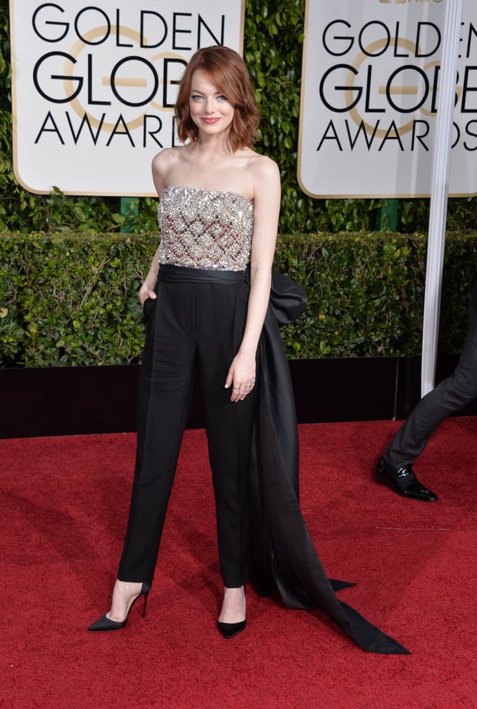 Emma Stone at the 2015 Golden Globe Awards