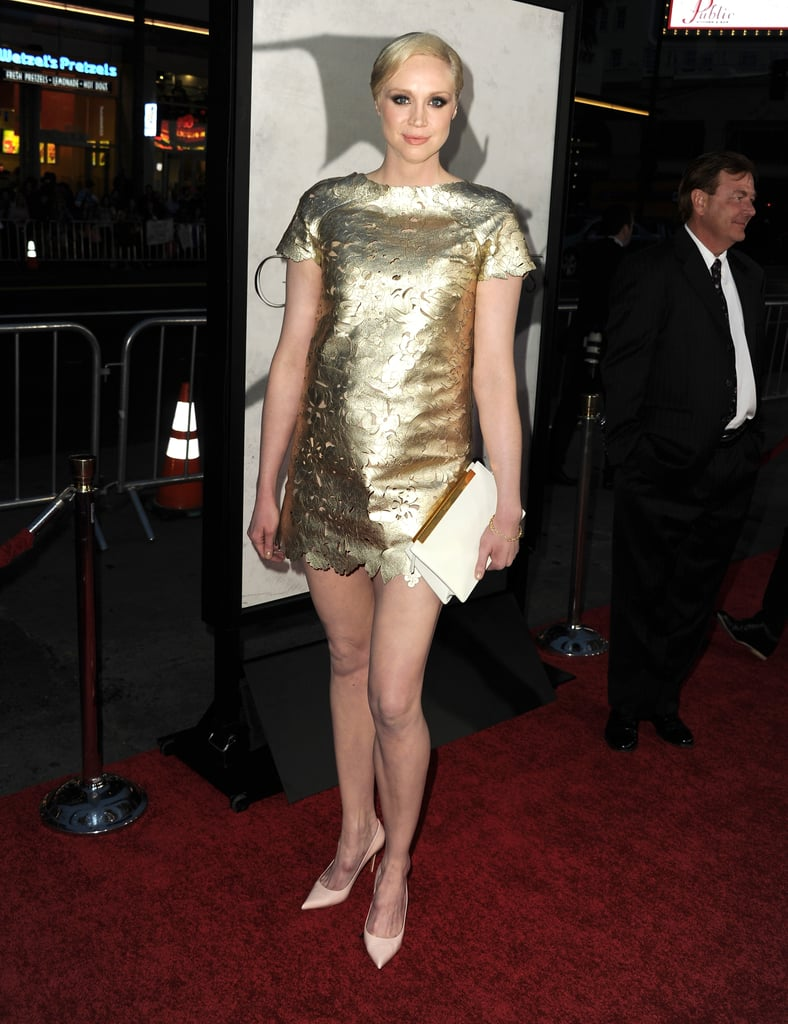Gwendoline Christie wore a sparkly minidress.