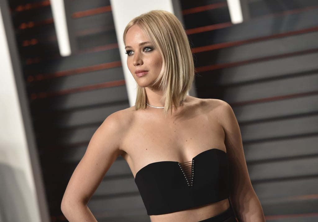 Jennifer Lawrence Really Is the Girl on Fire at Vanity Fair's Oscars Party