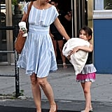 Katie Holmes and Suri Cruise left Chelsea Piers together in NYC.