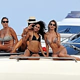 Vanessa Hudgens posed for photos with a friend.
