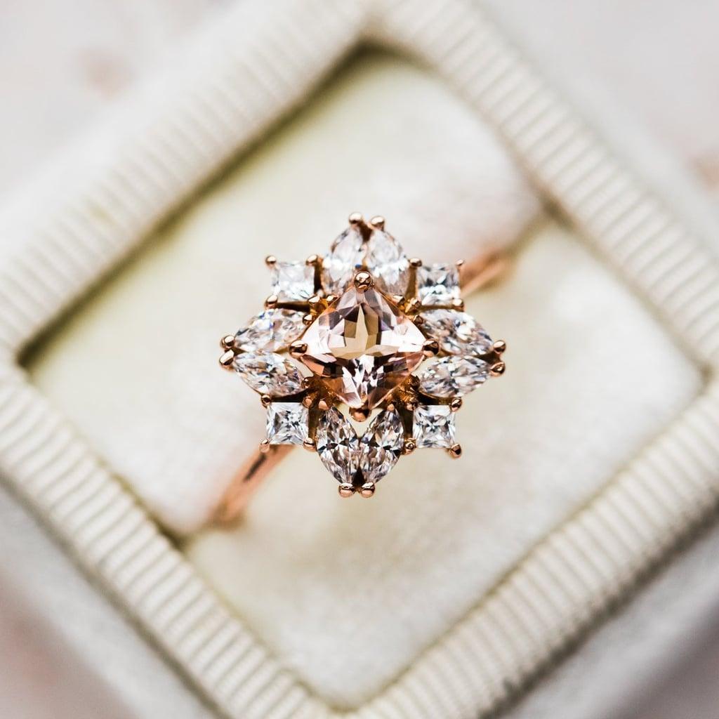 Jasmine Morganite Cluster Ring
