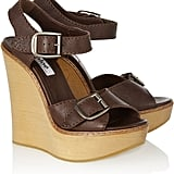 Chloé Brown Leather Wedge